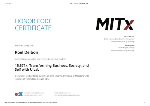 MITx Certificate-page web